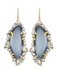 Alexis Bittar | Jardin De Mystere Jagged Crystal Dangle Earrings Steel Blue | Lyst