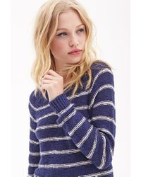 Forever 21 - Blue Striped Raglan Sweater - Lyst