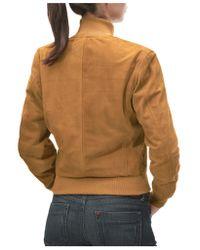 FORZIERI | Brown Women's Tan Italian Suede Two-pocket Jacket | Lyst