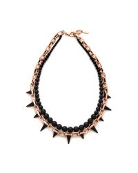 Joomi Lim - Metallic Midnight Rose Long Chain Spike Necklace Roseblack - Lyst