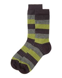 Toast | Purple Broken Stripe Socks | Lyst
