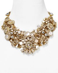 kate spade new york | Metallic Grande Bouquet Statement Necklace 18 | Lyst