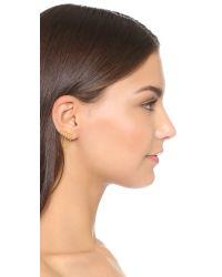 Gorjana - Metallic Gold Rush Ear Climbers - Lyst
