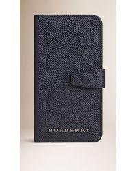 Burberry | Blue London Leather Iphone 6 Flip Case for Men | Lyst