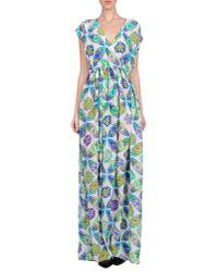 MSGM - White Long Dress - Lyst