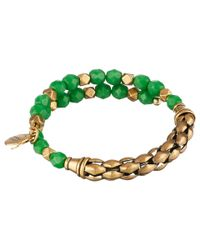 ALEX AND ANI - Green Calypso Beaded Wrap Bangle - Lyst