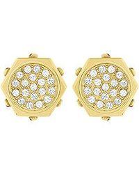 Swarovski | Metallic Bolt Pierced Earrings | Lyst