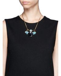 Scho | Blue Czech Crystal Necklace | Lyst