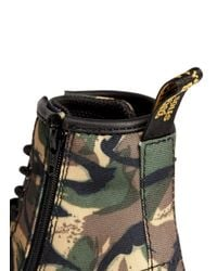 Dr. Martens - Green Brooklee' Camouflage Canvas Infant Boots for Men - Lyst