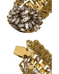 Erickson Beamon - Metallic Gold-Plated Swarovski Crystal Necklace - Lyst