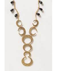 Anthropologie - Metallic Crescent Necklace - Lyst
