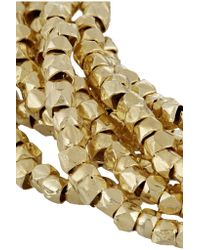 Chan Luu - Metallic Gold-plated Beaded Bracelet - Lyst
