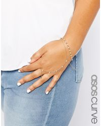 Asos Curve | Metallic Faux Pearl Bracelet & Hand Harness Pack | Lyst
