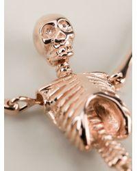 Vivienne Westwood - Metallic Skeleton Necklace - Lyst
