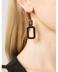 Rebecca - Metallic 'elizabeth' Square Drop Earring - Lyst
