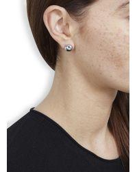 Marc By Marc Jacobs - Metallic Silver Tone Domed Stud Earrings - Lyst