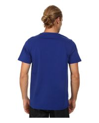 Fred Perry | Blue Laurel Print T-shirt for Men | Lyst