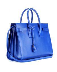 Saint Laurent - Blue Sac De Jour Small Leather Tote - Lyst