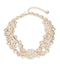 kate spade new york | Metallic Pick A Pearl Collar Necklace | Lyst