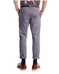 BOSS Orange - Gray Tapered-fit Chinos In Cotton Blend: 'sandrew1-d' for Men - Lyst