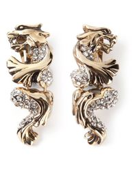Roberto Cavalli | Metallic Panther Earrings | Lyst