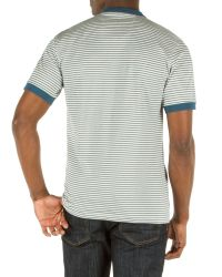 Racing Green | Blue Graduate Stripe Henley Top for Men | Lyst