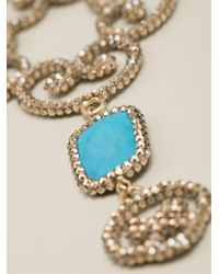 Roni Blanshay - Blue Pendant Necklace - Lyst