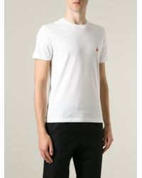 Carven - White Traffic Cone Embroidered T-Shirt for Men - Lyst
