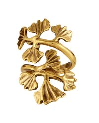 Oscar de la Renta | Metallic Gingko-Leaf Ring | Lyst