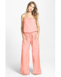 Hard Tail | Pink Strapless Shelf Bra Jumpsuit | Lyst