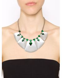 Alexis Bittar | Green Embellished Bib Necklace | Lyst