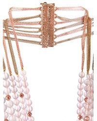 Rosantica By Michela Panero | Metallic Ii Mondo Agate Bead Necklace | Lyst