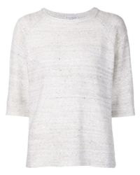 Brunello Cucinelli | White Sequined Sweater | Lyst