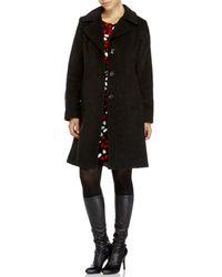 Anne Klein - Gray Notch Collar Walker Coat - Lyst