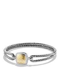 David Yurman | Metallic Albion Bracelet With Diamonds And Gold | Lyst