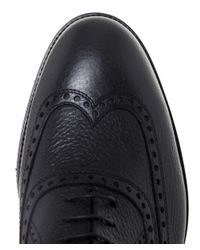 Stemar - Black Merano Leather Oxford Shoes for Men - Lyst