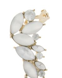 Oasis | White Matte Crystal Ear Adornment | Lyst