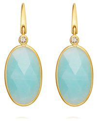 Astley Clarke - Blue Amazonite Cassini Drop Earrings - Lyst