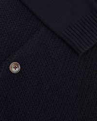 Ted Baker | Blue Knitted Bomber Jacket for Men | Lyst