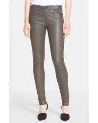 Vince | Gray Five-pocket Leather Pants | Lyst