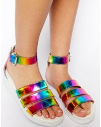 ASOS - Metallic Twist Toe Ring - Lyst