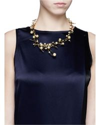 Erickson Beamon | Metallic 'stratosphere' Pearl Crystal Branch Collar Necklace | Lyst