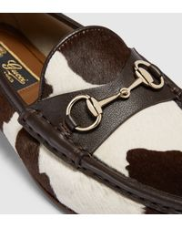 Gucci - White 1953 Horsebit Loafer In Calf Hair - Lyst