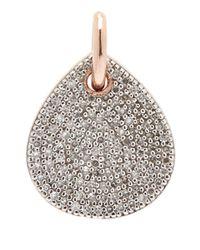Monica Vinader - Pink Alma Rose Gold-Plated Diamond Earrings - Lyst