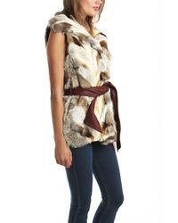 A.L.C. - Gray Lilly Fox Fur Vest - Lyst