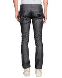 Dolce & Gabbana - Black Denim Trousers for Men - Lyst