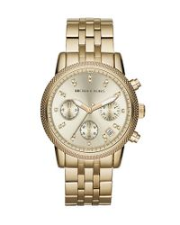 MICHAEL Michael Kors | Metallic Michael Kors 'the Ritz' Chronograph Bracelet Watch | Lyst