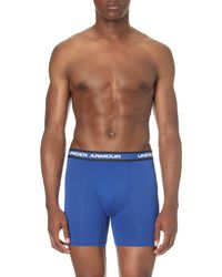 Under Armour - Blue Pack Of Two Stretch-mesh Trunks, Men's, Size: S, Black / Royal for Men - Lyst