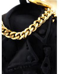 Moschino | Metallic Biker Bag Clip-on Earrings | Lyst