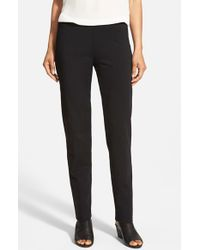 Eileen Fisher | Black Knit Slim Pants | Lyst